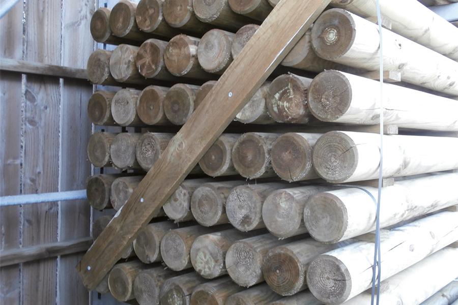 palette de rondin bois